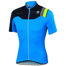 Sportful Bodyfit Pro Race Jersey Men electric blue/black/green fluo